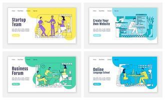 página de inicio de coworking empresarial vector