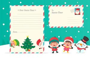 Christmas characters and letters to Santa