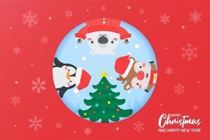 Christmas characters decorating Christmas tree