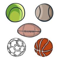 Set of doodle balls