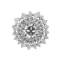 icono de mandala de flores