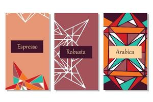 Banners for coffee package vector