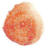 Creative mandala in frame vector