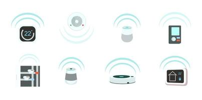 Smart devices objects set vector