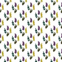 Seamless pattern with leaves in flat cartoon style.