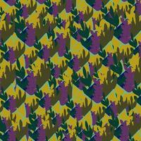 Organic pattern with leaves in flat cartoon style.