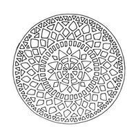 Creative mandala icon. vector