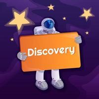 Discovery social media post vector
