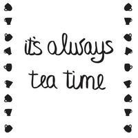 siempre la hora del té