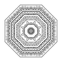 Floral ethnic mandala. vector