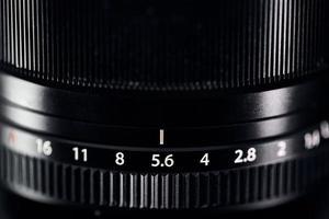 A black zoom lens