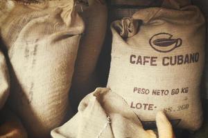 Cuba, 2020 - Sacks of Cuban coffee beans photo