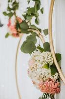 Delicate floral arrangements