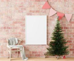 Christmas tree frame mock up, copy space
