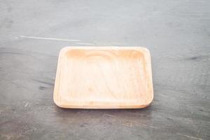 posavasos cuadrado de madera foto