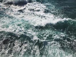 Aerial view of waves at mediterranean sea