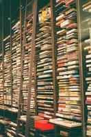 Tehran Province, Iran, 2020 - Shelves inside a record store
