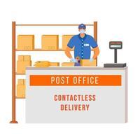 mostrador de la oficina de correos vector