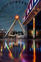 Amsterdam, Netherlands, 2020 - Amusement park at night
