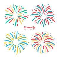 fuegos artificiales para celebrar el año nuevo vector