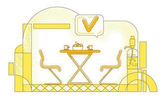 Company cafeteria line design vector