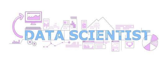 banner de palabra científico de datos vector