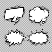 Comic speech bubble collection vector
