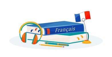 libros de aprendizaje de francés vector