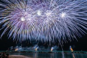 Big blue fireworks
