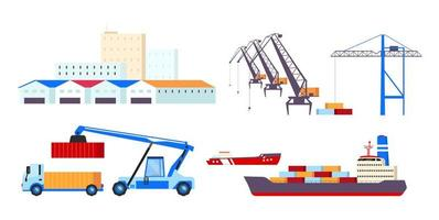 Maritime transportation objects set