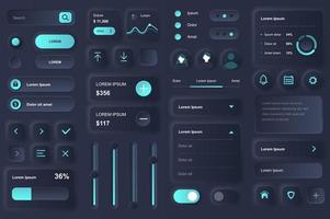 User interface elements for banking mobile app vector