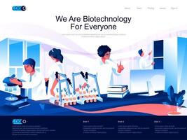 We are Biotechnology for everyone isometric landing page.