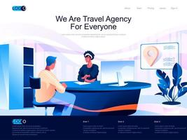 We are Travel Agency for everyone isometric landing page. vector