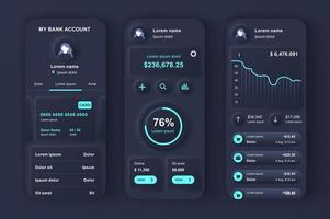 Online banking unique neumorphic design kit