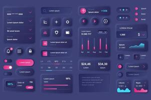 User interface elements for cryptocurrency mobile app vector