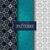Decorative lines pattern collection
