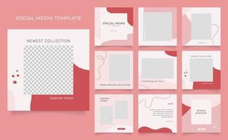 Social media fashion sale promotion template vector