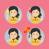 Soccer Referee Gesture Collection vector