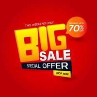 Big sale special offer template Banner