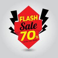 plantilla de banner de venta flash vector