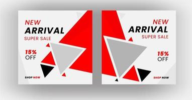diseño de plantilla de banner de publicación de redes sociales
