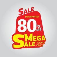 Mega sale banner template vector