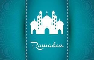 banner de celebración de ramadán con mezquita vector
