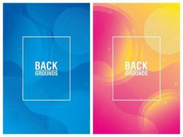 Colorful vibrant abstract background set
