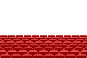Theater hall with seating vector