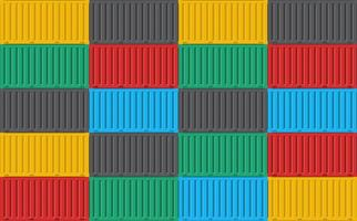 Background pattern of stacked cargo containers vector