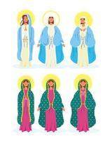 conjunto de iconos de la virgen maría