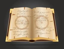 Open magic book vector