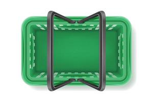 Top view plastic shopping basket vector