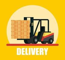 Composición del servicio de entrega con carretilla elevadora.